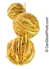 woolen threads - ball of woolen threads, spokes are the home...