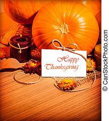 Thanksgiving day still life