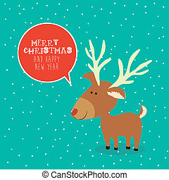 merry christmas design - merry christmas design over blue...