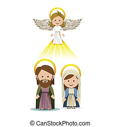 messenger angel over white background vector illustration
