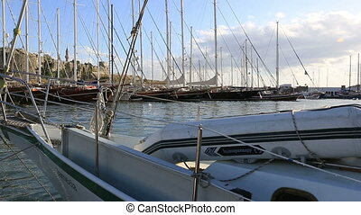 Bodrum Harbor (pan shoot) - travel destination at Bodrum...