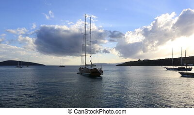 luxurious sail ship 2 - luxurious sail ship waiting very...