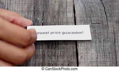 Lowest Price Guarantee - A Lowest Price Guarantee paper sign...