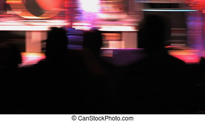 Rock Concert, Shaky 1 - Shaky strobe-effect on fans at the...