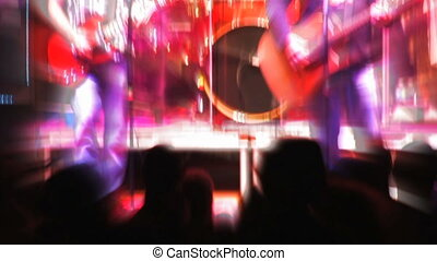 Rock Concert, Shaky 2 - Shaky strobe-effect on fans at the...