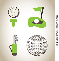 golf design over beige   background vector illustration