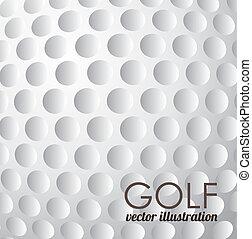 golf design over pattern   background vector illustration