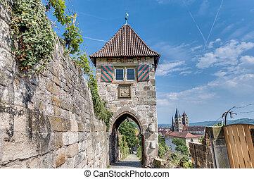 Neckarhaldentor in Esslingen am Neckar, Germany -...