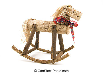 Handcrafted Rocking Horse - Handcrafted rocking horse on...