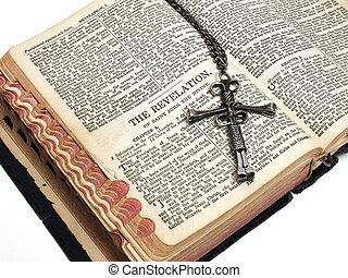 Cross on Revelation - Cross resting on the beginning or The...