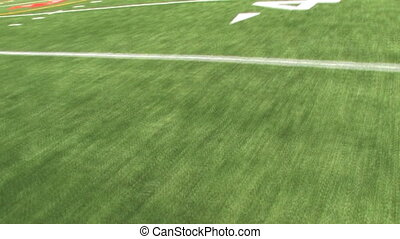 Running Football Field - View of the astroturf while running...