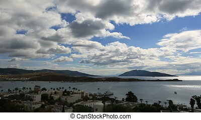 Bodrum Bay (time lapse) - very famous place travel...