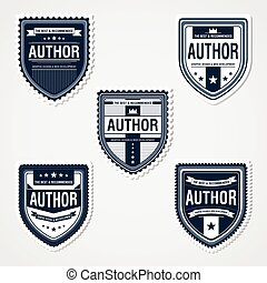 Awesome Badges Template - 5 ready used badge designs,...