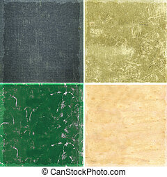 Collection of vintage paper background textures