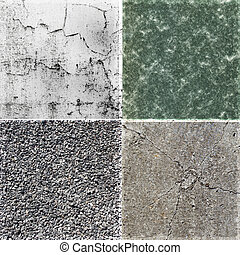 Collection of rough stone background textures