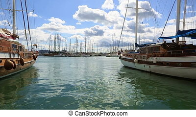 Bodrum Harbor (pan shoot) - very famous place travel...