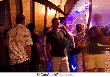 Tourists in Rarotonga Cook Islands - RAROTONGA - SEP...