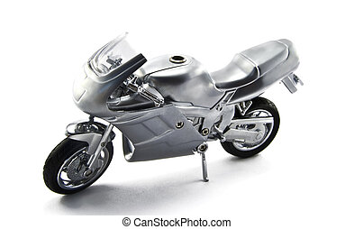 motorcycle is isolated on a white background