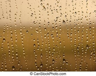 Raindrops - Water drops on a window surface