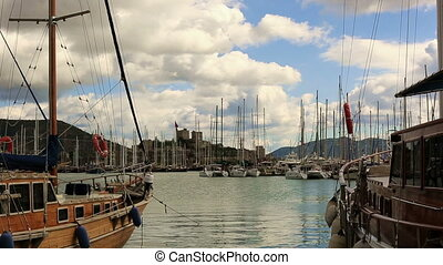 Bodrum Harbor - very famous place travel destination at...