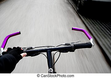 Bicycle - Bycicle handle with motion blur