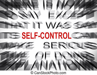 Blured text with focus on SELF-CONTROL