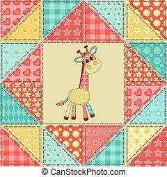 Giraffe quilt pattern