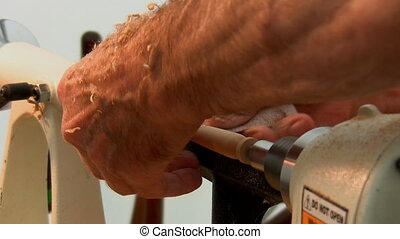 Craftman working - Isolated close up shot of craftsman hands...