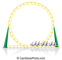 roller coaster illustration isolated on background