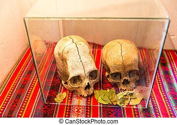 Embalmed, múmia, cranio, Peru, ossos, Chauchilla,...