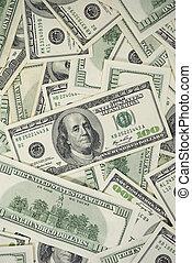 100 Dollar Bills Background Vertical Photo
