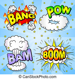 comic book elements - vector illustration of some cartoon...