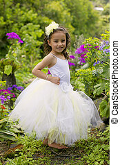 Ballet dancer. - Adorable girl dressed as a princess.