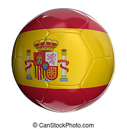 Soccer ball with Spanish flag