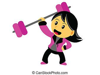 Chibi Woman Cartoon Character