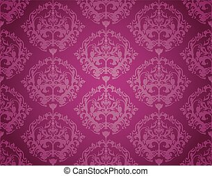 Seamless Wallpaper Pattern (Purple)