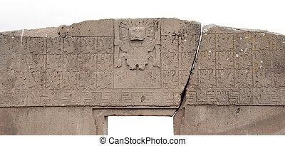 el, entrada, sol, Tiwanaku