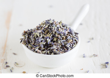 Lavender - Closeup of dried lavender which can be used for...