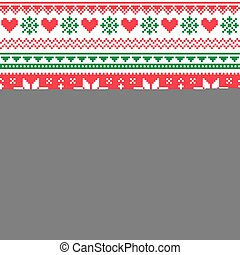 Nordic seamless knitted christmas - Winter vector background...