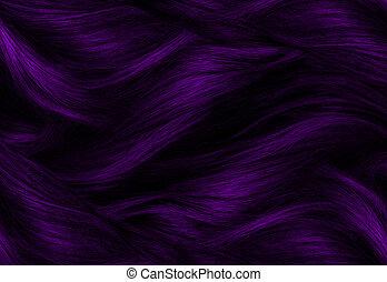roxo, cabelo, textura