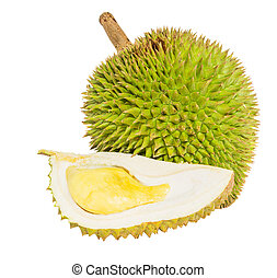 Durian Fruit - Durian fruit over white background