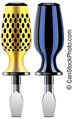turn-screw - Screwdriver used vector illustration of two...