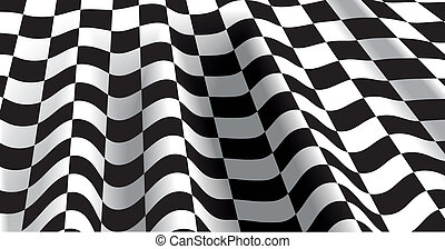 checkered flag abstract vector illustration isolated...