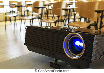 Digital projector in a conference hall - Digital projector...