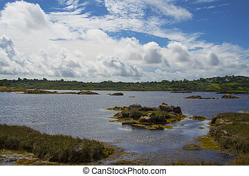 Connemara, lake landscape