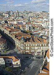 Porto skyline from Clerigos tower, Portugal - Porto skyline...