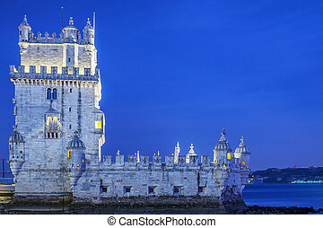 The Belem tower at sunset