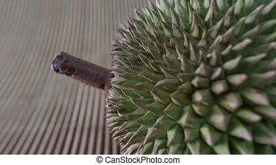 Durian Fruit on a bamboo mat