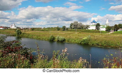 view on kremlin in Suzdal Russia