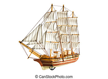 frigate is isolated on a white background